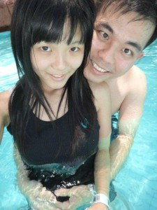 Raymond Chua and his girlfriend